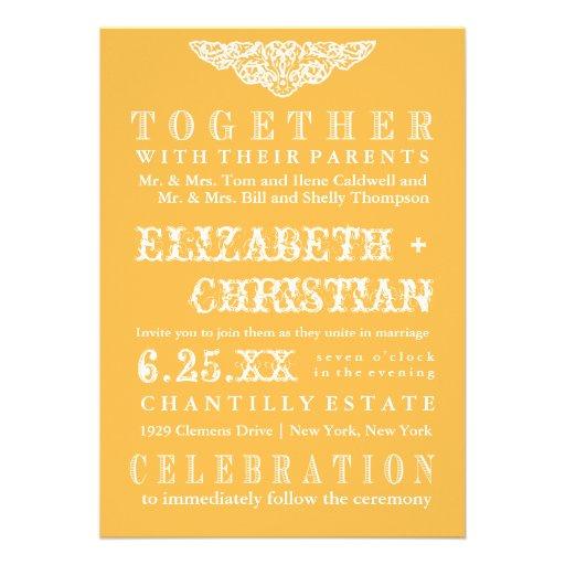 Invitación-miel del boda de Bill del teatro del vi