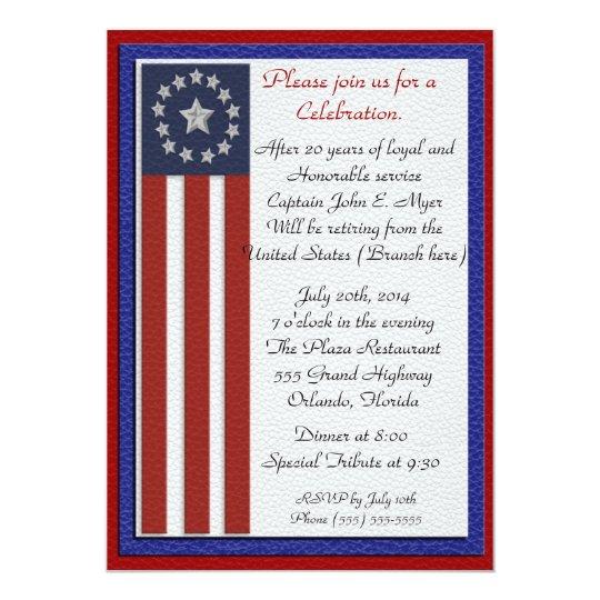 Invitación militar del fiesta de retiro