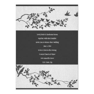 Invitación minimalista blanco y negro del boda del
