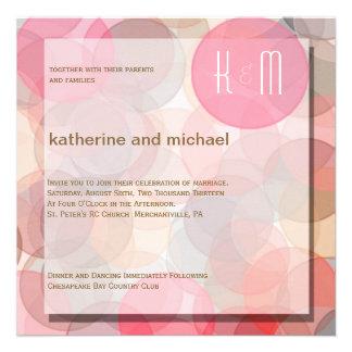 Invitación minimalista moderna del boda