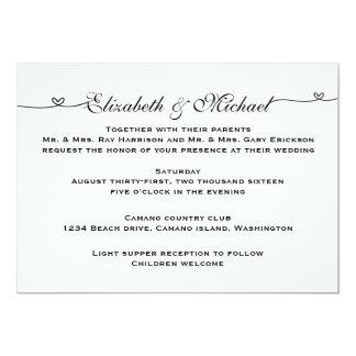 Invitación minimalista simple del boda