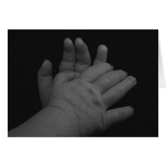 Invitación minúscula de la ducha de las manos