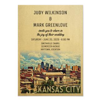 Invitación Missouri del boda de Kansas City