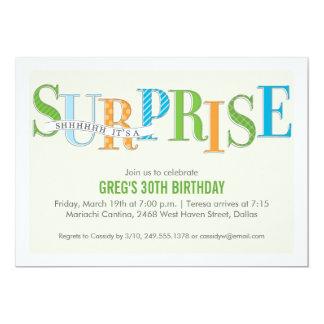 Invitación modelada del fiesta de sorpresa en