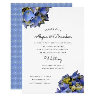 Invitación moderna azul del boda del verano