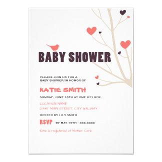 Invitación moderna de la ducha de la niña