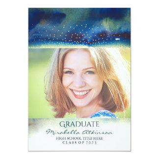 Invitación moderna de la fiesta de graduación del