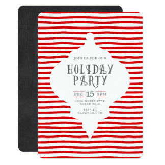 Invitación moderna de la fiesta de Navidad