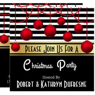 Invitación moderna de la fiesta de Navidad de la