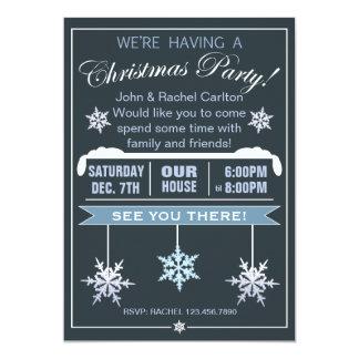 Invitación moderna de la fiesta de Navidad del Invitación 12,7 X 17,8 Cm