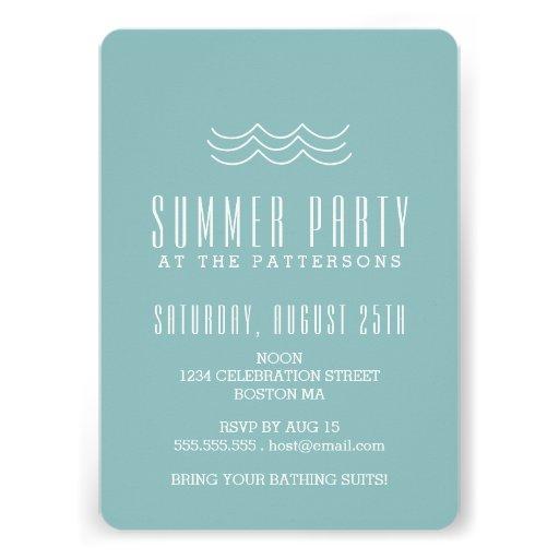 Invitación moderna de la fiesta en la piscina del