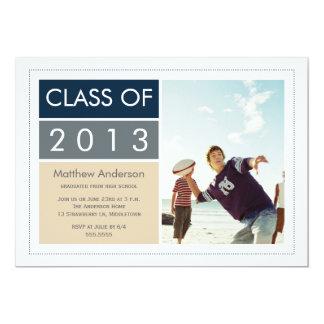Invitación moderna de la graduación de la foto -