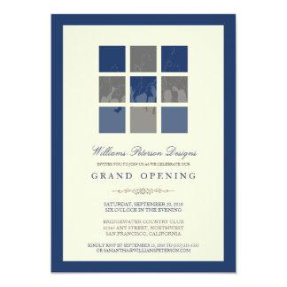 Invitación moderna de la gran inauguración de los