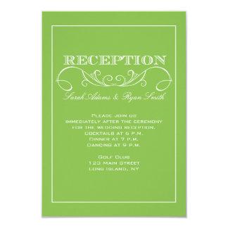 Invitación moderna de la recepción del remolino de