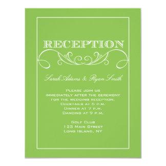 Invitación moderna de la recepción nupcial del invitación 10,8 x 13,9 cm