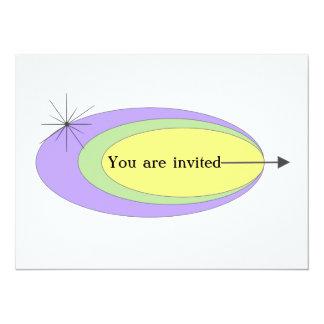 Invitación moderna de los mediados de siglo