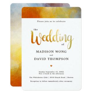 Invitación moderna del boda de la acuarela