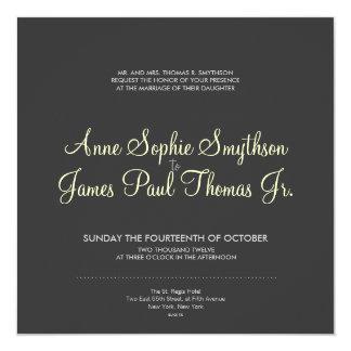 Invitación moderna del boda de la cebra gris