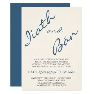 Invitación moderna del boda de la escritura de