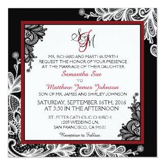 Invitación moderna del boda del gótico del negro