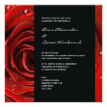 Invitación moderna del boda del rosa rojo