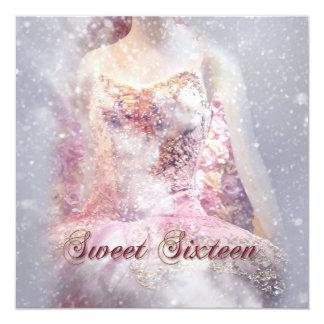 Invitación moderna del dulce dieciséis de la danza