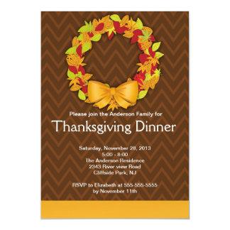 Invitación moderna del fiesta de cena de la