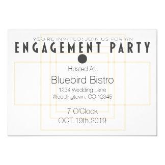 Invitación moderna del fiesta de compromiso del