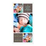 Invitación moderna del nacimiento del bebé de la f tarjetas personales