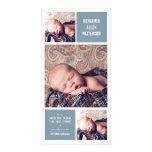 Invitación moderna del nacimiento del bebé de la f tarjeta personal