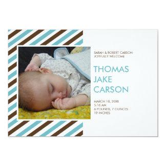 Invitación moderna del nacimiento del bebé del invitación 12,7 x 17,8 cm
