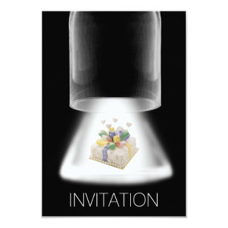 Invitación moderna del Vip de la torta de la
