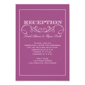 Invitación moderna elegante de la recepción