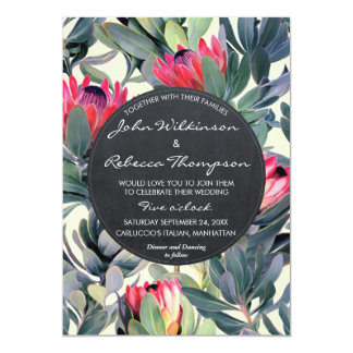 Invitación moderna floral del boda de las hojas