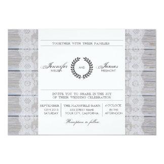 Invitación moderna rústica del boda