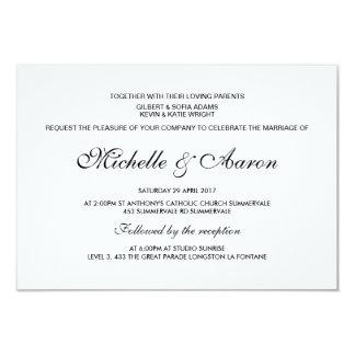Invitación moderna simple del boda