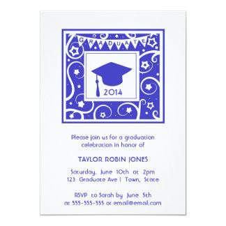 Invitación moderna y elegante de la graduación de
