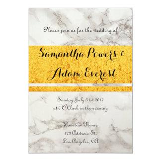 Invitación moderna y elegante del boda del oro y