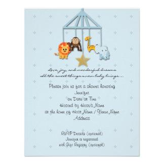 Invitación móvil animal de la fiesta de bienvenida