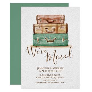Invitación móvil de las maletas el | del vintage