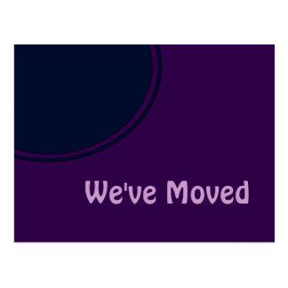 Invitación móvil moderna púrpura oscura postal