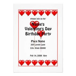 Invitación N del fiesta de los corazones del cumpl