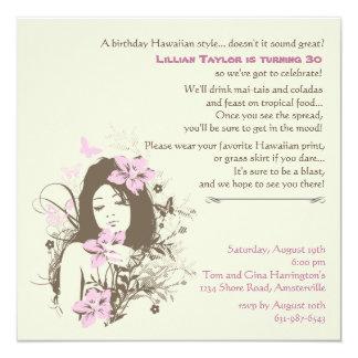 Invitación natural de la belleza invitación 13,3 cm x 13,3cm