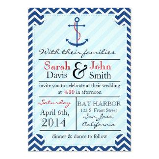 Invitación náutica con clase del boda
