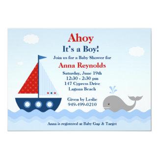 Invitación náutica de la fiesta de bienvenida al