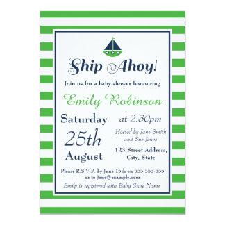 ¡Invitación náutica de la fiesta de bienvenida al Invitación 12,7 X 17,8 Cm