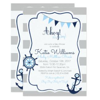 Invitación náutica de la tarjeta de la fiesta de