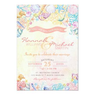 Invitación náutica del boda de playa
