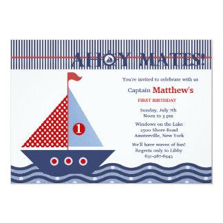 Invitación náutica juvenil de la fiesta de
