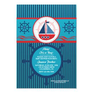 Invitación náutica linda de la fiesta de